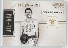 2010 Playoff National Treasures All-NBA #1 George Mikan Los Angeles Lakers Card