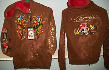 NEW LADIES ED HARDY TATTOO DESIGN HOODIES BROWN COBRA PICK SIZE