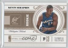 2010-11 Playoff National Treasures 188 Kevin Seraphin Washington Wizards RC Card
