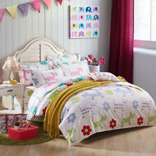 Cute Dog Puppy Single Queen King Bed Set Pillowcase Quilt Duvet Cover Lus