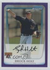 2011 Bowman Chrome Prospects Purple Refractor #BCP201 Brock Holt Baseball Card