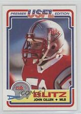 1984 Topps USFL #19 John Gillen Chicago Blitz (USFL) Rookie Football Card
