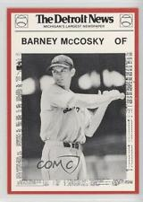 1981 Detroit News Tigers Boys of Summer 100th Anniversary #114 Barney McCosky