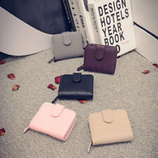 Womens Fashion PU Leather Small Wallet Card Zip Coin Holder Purse Clutch Handbag