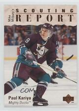 1995-96 Upper Deck 245 Paul Kariya Anaheim Ducks (Mighty of Anaheim) Hockey Card