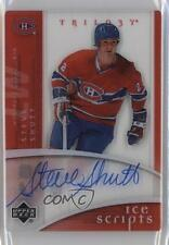2007-08 Upper Deck Trilogy Ice Scripts IS-SS Steve Shutt Montreal Canadiens Auto
