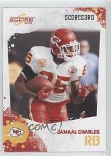 2010 Score Scorecard #145 Jamaal Charles Kansas City Chiefs Football Card