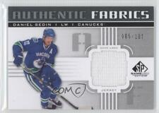 2011 SP Game Used Edition Authentic Fabrics AF-DS Daniel Sedin Vancouver Canucks