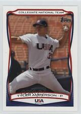 2010 Topps USA Baseball Team #USA-22 Tyler Anderson (National Team) Rookie Card