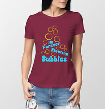 West Ham United FC inspired Im forever Blowing bubbles burgundy ladies t-shirt.