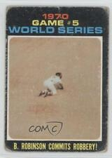 1971 Topps #331 World Series Game #5: B Robinson commits robbery! Brooks Card