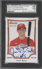 2010 Bowman Draft Picks & Prospects AFLAC-JS Josh Sale SGC 98 Auto Baseball Card