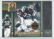 1999 Pacific Omega Premiere Date #166 Leon Johnson New York Jets Football Card