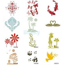 Wall Painting Stencil Template Plastic Mural Home Modern DIY Craft Decoration