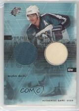 2000-01 SPx Winning Materials ts Teemu Selanne Anaheim Ducks (Mighty of Anaheim)