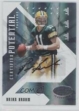 2008 Leaf Certified Materials #CP-13 Brian Brohm Green Bay Packers Auto Card
