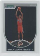 2007 Bowman Draft Picks & Stars Chrome Refractor #160 Brandan Wright Rookie Card