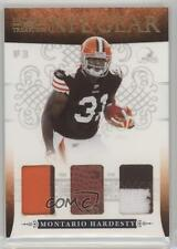 2010 Playoff National Treasures NFL Gear Trios Prime #16 Montario Hardesty Card