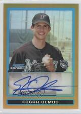 2009 Bowman Chrome Prospects Gold Refractor #BCP103 Edgar Olmos Auto Rookie Card
