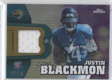 2012 Topps Chrome Rookie Relics Purple Refractor #RR20 Justin Blackmon Card