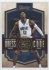 2009-10 Panini Classics Dress Code Gold #12 Dwight Howard Orlando Magic Card