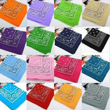Paisley Bandana Accessories Cotton Head Wrap Neck Scarf Wristband Handkerchief