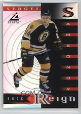 1997-98 Pinnacle Zenith Rookie Reign 1 Sergei Samsonov Boston Bruins Hockey Card