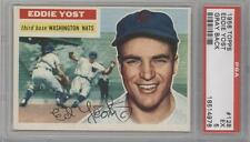 1956 Topps 128.1 Eddie Yost (Gray Back) PSA 5 Washington Nationals Baseball Card