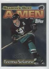 1999 Topps A-Men AM4 Teemu Selanne Anaheim Ducks (Mighty of Anaheim) Hockey Card