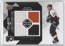 2008-09 Upper Deck Black Diamond Quad Jerseys #BDJ-SG Simon Gagne Hockey Card