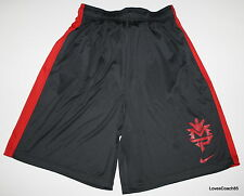 Nike Manny Pacquiao Training Shorts Mens S~XL Dark Grey/Red 436576-091 NWT DS