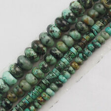 Natural Africa Turquoise Rondelle/Heishi Spacer Loose Bead 15.5 inch ZLX-148