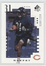 2000 SP Authentic #98 Frank Murphy Chicago Bears RC Rookie Football Card