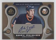 2005 SP Game Used Edition Rookie Exclusives Autographed RE-CC Cam Ward Auto Card