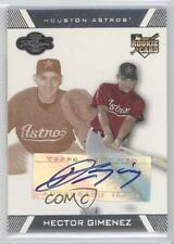 2007 Topps Co-Signers Gold #106 Hector Gimenez Houston Astros Auto Baseball Card