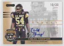 2010 Razor US Army All-American Bowl Autographs Gold BA-CT2 Carlos Thompson Auto