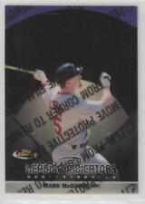1999 Topps Finest Leading Indicators #L1 Mark McGwire St. Louis Cardinals Card