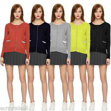 Fashion Womens Cardigan Knitted Jumper Sweater Tops Casual Jackets Outwear Coats