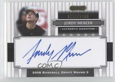 2008 Razor Signature Series 182 Jordy Mercer Pittsburgh Pirates Auto Rookie Card