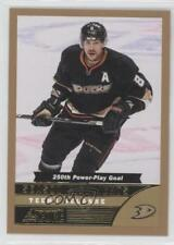 2013 Score Gold #590 Teemu Selanne Anaheim Ducks (Mighty of Anaheim) Hockey Card