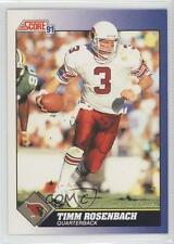 1991 Score #95 Timm Rosenbach Arizona Cardinals Football Card