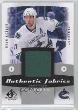 2010 SP Game Used Edition Authentic Fabrics #AF-RK Ryan Kesler Vancouver Canucks
