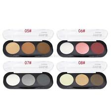 3 Colors Makeup Shimmer Eyeshadow Palette Neutral Nude Warm Eye Shadow Cosmetic