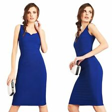 Women Sexy Bandage Bodycon Sleeveless Slim Evening Cocktail Party Pencil Dress