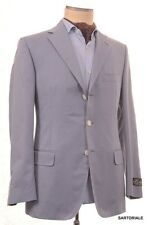 BELVEST Made In Italy Hand Made Solid Blue Cotton Blazer Jacket Sports Coat NEW