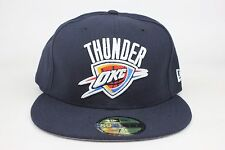 Oklahoma City Thunder All Navy / White Word NBA New Era 59Fifty Fitted Hat Cap