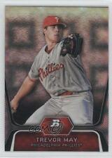 2012 Bowman Platinum Prospects X-Fractor #BPP25 Trevor May Philadelphia Phillies
