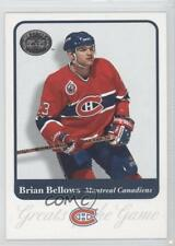 2001-02 Fleer Greats of the Game 54 Brian Bellows Montreal Canadiens Hockey Card