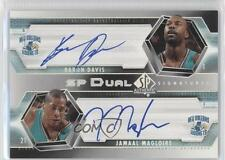 2004 SP Authentic Dual Signatures #SP2-DM Jamaal Magloire Baron Davis Auto Card
