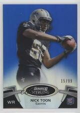 2012 Bowman Sterling Blue Refractor #35 Nick Toon New Orleans Saints Rookie Card